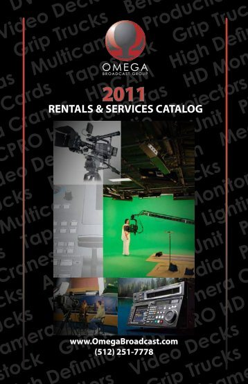 rentals & services catalog - Omega Broadcast Group