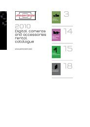 Digital cameras and accessories rental catalogue - Panavision