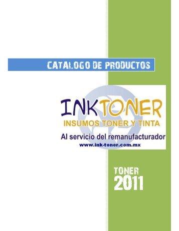 TONER CATALOGO DE PRODUCTOS