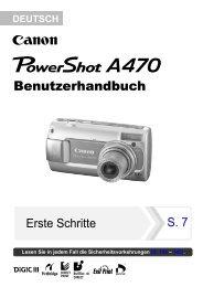 PowerShot A470 PSA470_CUG_DEU.pdf - Canon Deutschland
