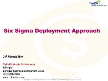 Six Sigma Deployment Approach Axis Bank - Canopus Business ...