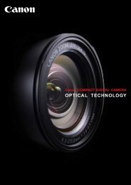 Canon COMPACT DIGITAL CAMERA OPTICAL TECHNOLOGY