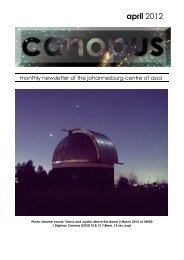 april 2012 - Astronomical Society of Southern Africa