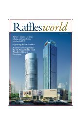 Contents - Raffles World - Raffles Hotel
