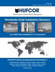 Hufcor Hotel Installation Directory Mar10 - Hufcor United Kingdom