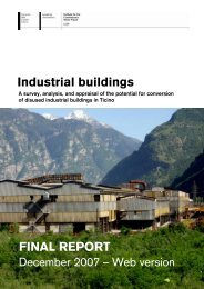 Industrial buildings FINAL REPORT - Accademia di architettura