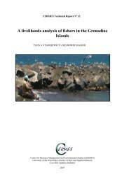 A livelihoods analysis of fishers in the Grenadine Islands