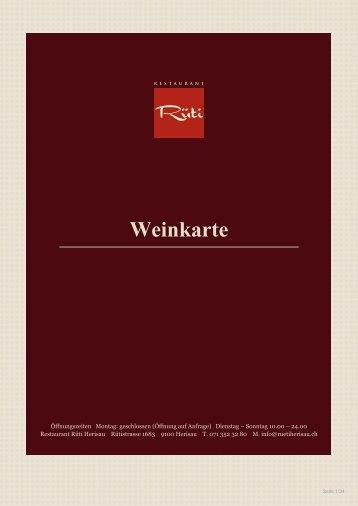 Weinkarte (pdf,335.79 kB) - Restaurant Rüti Herisau