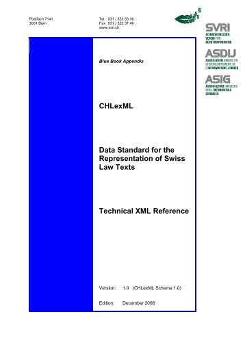 CHLexML Data Standard for the Representation of Swiss Law Texts ...