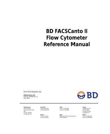 Bd biosciences facscanto ii flow cytometer features optics.