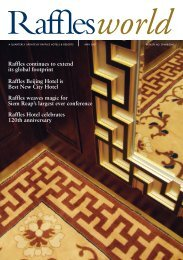 Raffles continues to extend its global footprint Raffles Beijing Hotel ...