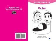 Kindergarten Decodable Reader 10