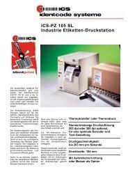 ICS-PZ 105 SL Industrie Etiketten-Druckstation - ICS Identcode ...