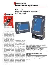 X7 Mobiles Industrie Windows CE-Terminal - ICS Identcode ...