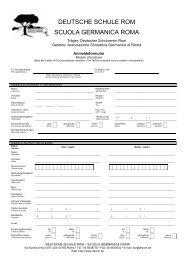 Anmeldeformular - Deutsche Schule Rom