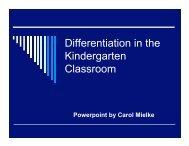 DI Kindergarten Instructional PowerPoint