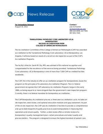 For Immediate Release Contact: August 10, 2012 Joe Schramm ...