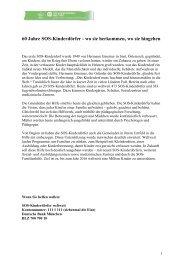 Pressemappe 60 Jahre SOS-Kinderdörfer - SOS-Kinderdorf Philatelie