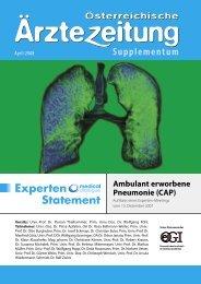 Experten Statement Ambulant erworbene Pneumonie (CAP)