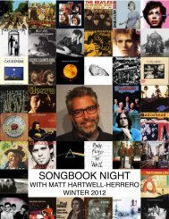 SONGBOOK NIGHT