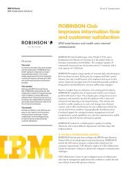 ROBINSON Club improves information flow and customer satisfaction