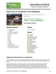 Hotel Tyrol im Tannheimer Tal in Haldensee - Outdoor-Touristik