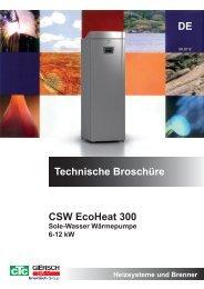 Technische Broschüre DE CSW EcoHeat 300 - CTC Giersch AG