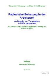 Dokumentation Strahlende ÖBB-Tachoscheiben Sanierung - Plage