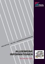 ALLGEMEINE INFORMATIONEN - Paul Wärmerückgewinnung