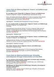 Durchwahlverzeichnis Ärztlicher Dienst - Martin Luther Krankenhaus ...