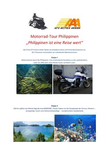 "Motorrad-Tour Philippinen ""Philippinen ist eine ... - ATV Action Arbon"