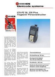 ICS-PZ QL 220 Plus Tragbarer Personaldrucker - ICS Identcode ...