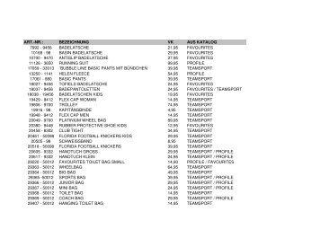 H2O Preisliste 2010 mit EK und VK Preisen