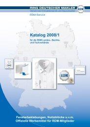 Katalog 2008/1 - RDM
