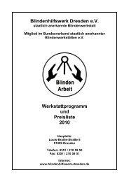 Unsere Produkte als PDF-Katalog - Blindenhilfswerk Dresden eV