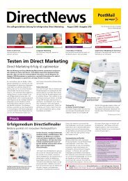 Testen im Direct Marketing - Die Schweizerische Post