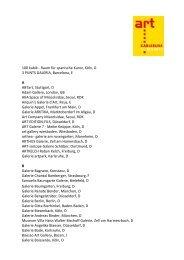 Ausstellerliste 2013 - art KARLSRUHE