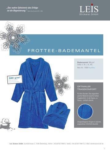 FROTTEE-BADEMANTEL - Stickerei Leis