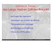Urknall im Tunnel - Das Large-Hadron-Collider-Projekt