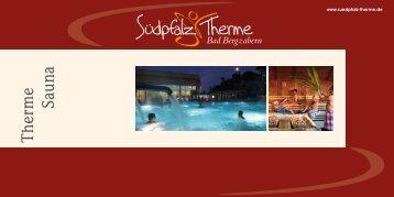 Prospekt Therme & Sauna - Südpfalz Therme