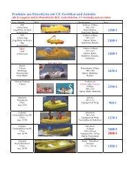 Produkte aus Polyethylen mit CE Zertifikat und ... - bei Trabofo.de