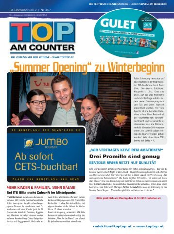 """Summer Opening"" zu Winterbeginn - top am counter"