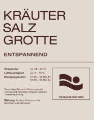 Überblick der verschiedenen Saunen - Vitalhotel Bad Radkersburg