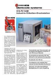 ICS-PZ S4M Industrie Etiketten-Druckstation - ICS Identcode ...