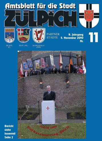 Amtsblatt 11/2010 - Stadt Zülpich