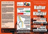 Flyer Kultur im Kloster 2012 - Gemeinde Marxzell