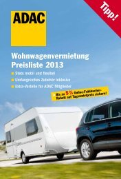 Wohnwagenvermietung Preisliste 2013 - Reisemobile Josuweck
