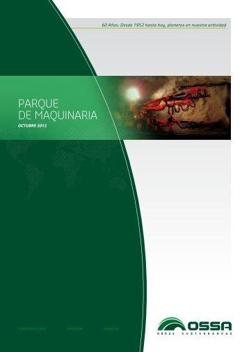 PARQUE DE MAQUINARIA - OSSA