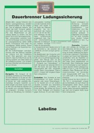Dauerbrenner Ladungssicherung - Der Gefahrgut-Beauftragte