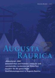 AR-2007-2 Aussen.indd - Augusta Raurica